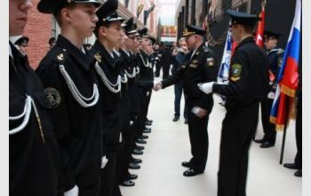 Вступление курсантов Колледжа ГУМРФ в ряды Всероссийского военно-патриотического общественного движения «Юнармия»