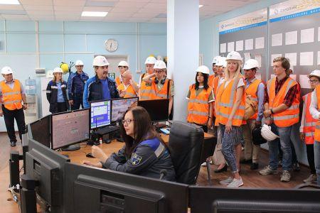 Студенты МГТУ на производственной  экскурсии по  'ЕвроХим-БМУ'